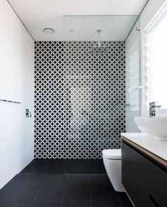 "91 Likes, 2 Comments - Volaré Tile Concepts (@volaretileconcepts) on Instagram: ""We love this monochrome look! Simple yet definitely not boring, that decorative tile feature wall…"""