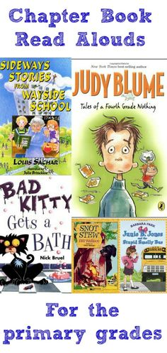 Just a Touch of Crazy: Fun #Chapter #Book Read Alouds for the #Primary Grades | Ellie's Pick from THE Pin It Party
