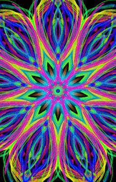 Hippy neon flower
