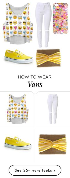 """Emoji"" by gretchenlover on Polyvore featuring Chicnova Fashion, Vans and Boohoo"