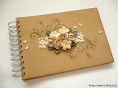 Скрапбукинг. Цветы из бумаги для открыток и тегов. Мастер-классы