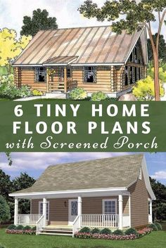 6 tiny home floor plans that include a screened porch - Is there anything better than a porch? Tiny Home Inspiration   Tiny Home Floor Plans   Cute Tiny Homes