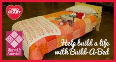 Knit or crochet afghans for Warm Up America!'s Build-a-Bed campaign to provide children in need with beds and bedding.