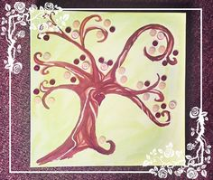 Canvas Button Tree Art