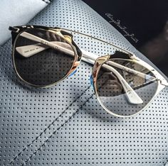 gold metallic christian dior sunglasses