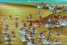 Battle of the Milvian Bridge, the cavalry of Maxentius tries to flee across the Tiber