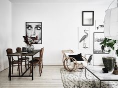 Scandinavian apartment with bohemian vibes (Daily Dream Decor) Scandinavian Apartment, Scandinavian Home, Cottage Living Rooms, Living Room Carpet, Cozy Living, Gravity Home, Sweet Home, Style Ethnique, Patio Interior