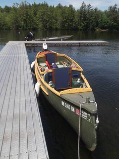Custom 2006 Scott Hudson Bay 21ft Freighter Canoe river camper, 8hp Honda 4 stroke motor