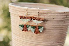 Martinuska / Fresh corks/cork earrings