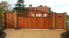 Fine quality made-to-measure wooden gates, driveway gates, hardwood gates, Wooden Gates, Wooden Doors, Aluminum Driveway Gates, Driveway Entrance, Entrance Gates, Fence Gate, Iron Gates, Home Automation, Gates