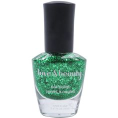 Shimmering Green Nail Polish (6,08 BRL) ❤ liked on Polyvore featuring beauty products, nail care, nail polish, makeup, nails, beauty, women, forever 21 nail polish and forever 21
