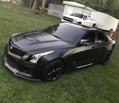 #Cadillac ATS-V #BlackOnBlack #MatteBlack #Modified