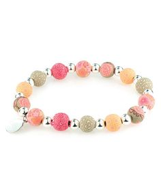 Take a look at this Southern Peach Petite Silver Ball Bracelet by JILZARA on #zulily today! $7 !!