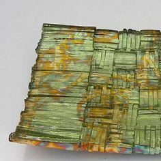 Il Sentiero: Mira Woodworth: Art Glass Platter - Artful Home