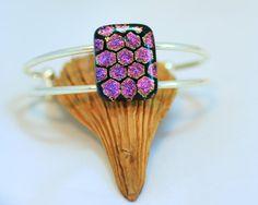 Fused Glass Bracelet Dichroic Glass Jewellery by JewelleryByTrudy, £15.00