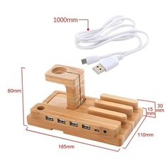 30% DE VENTA estación de carga soporte Iphone por WoodenLook