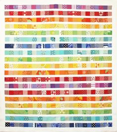Rainbow Scrap Strip Quilt Tutorial