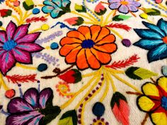 Peruvian Flower Embroidery