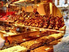 Chocolate shopping in Bruge, Belgium