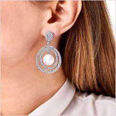 Mayfair South Sea Pearl and Diamond Earrings in White Gold Pearl And Diamond Earrings, Pearl Jewelry, Gold Earrings, Drop Earrings, Yoko London, South Sea Pearls, South Seas, Diamonds, White Gold