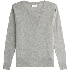 Velvet Cashmere Pullover (€184) ❤ liked on Polyvore featuring tops, sweaters, grey, grey cashmere sweater, sweater pullover, pullover sweater, cashmere sweater and long sleeve pullover sweater