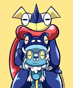 They all have that emotionless look. When will there be smiling Greninja?