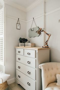 Upcycled Chest Of Drawers - Elle's Modern Country Guest Bedroom #moderninteriordesignbedroom