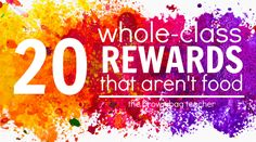 Working together to meet a goal builds classroom community & encourages teamwork. As a PBIS school, check our our 20 favorite nonfood, low-cost rewards! Behavior Rewards, Classroom Rewards, Behaviour Management, Classroom Organization, Classroom Management, Behavior Plans, Student Behavior, Behavior Charts, Class Management