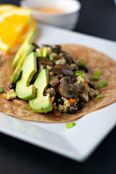 7. Mushroom and Avocado Breakfast Burrito #highprotein #breakfast #recipes http://greatist.com/eat/high-protein-breakfasts-healthy-recipe-ideas