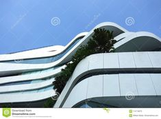 Modern Building In Bangkok Thailand With Tree On Balcony Stock Image - Image of thailand, funky: 114116075 Modern Buildings, Bangkok Thailand, Looking Up, Balcony, Skyscraper, Fair Grounds, Architecture, Travel, Image