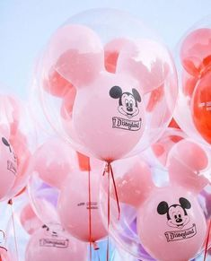 Such a happy cloud of pink Mickey Balloons! Walt Disney World I Disney Pictures I Beautiful Disney I Pictures of Disney Walt Disney, Disney Trips, Disney Magic, Disney Art, Disney Movies, Disney Pixar, Disney Characters, Disney Aesthetic, Pink Aesthetic