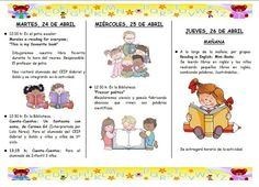 Ejemplo de folleto de programa de actividades de la biblioteca: Semana del Libro 2