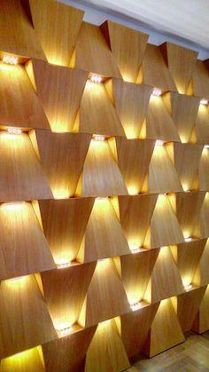 Wooden Wall Design, Wall Panel Design, Wall Decor Design, Partition Design, Wood Wall Decor, Wooden Wall Art, Wooden Walls, Ceiling Design, Wall Cladding Interior