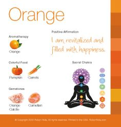 Orange Color Therapy Card #colortherapy
