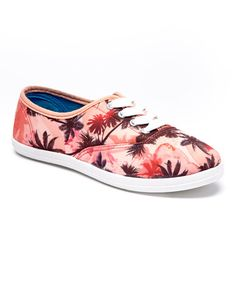 65daf838db26fb Another great find on  zulily! Pink Palm Tree Sneaker  zulilyfinds Summer  Sneakers
