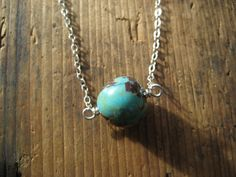 SALE  Turquoise and Sterling Silver Necklace by hoitytoitydesigns, $15.00