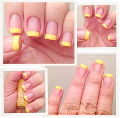 Day 3 - Sally Hansen Lightening - Yellow French