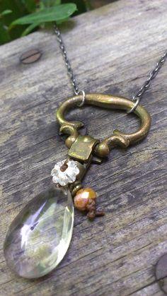 wanderlust- vintage hardware, vintage chandelier crystal, Swarovski