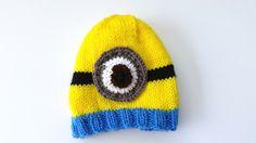 Free Knit Minion Hat Pattern1