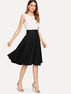 af5e13f91fa4 SheIn offers High Rise Wide Waistband Circle Skirt   more to fit your  fashionable needs. Dena Roland · Sassy Violets Boutique