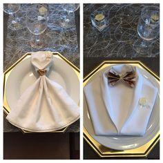 Pliage serviette anniversaire Nicolas                                                                                                                                                                                 Plus #weddingnapkins