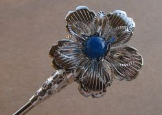 Jade hair fork Hair stick Blue and Light purple by pepperlonely11, $11.85