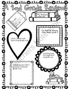 End of the School Year Poster- 2nd Grade in Review from Teaching Fun on TeachersNotebook.com -  (2 pages)  - A newspaper for students to fill out about their year in 2nd grade.  The students in my class loved to fill this out and look back on their year!
