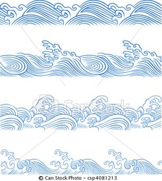 Vector - ocean wave set - stock illustration, royalty free illustrations, stock clip art icon, stock clipart icons, logo, line art, EPS picture, pictures, graphic, graphics, drawing, drawings, vector image, artwork, EPS vector art