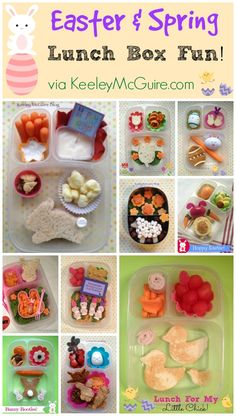 Easter Lunch Box Ideas for School via KeeleyMcGuire.com