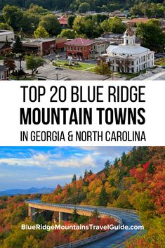 Top 20 Blue Ridge Mountain Towns in GA & NC with the best things to do in each. Usa Travel Guide, Travel Usa, Travel Info, Beach Travel, Budget Travel, Travel Guides, Travel Tips, Cool Places To Visit, Places To Travel