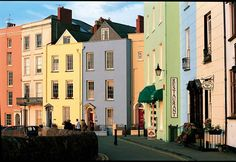 ~ Georgian Houses near the harbour in Tenby ~ Wales ~ UK ~