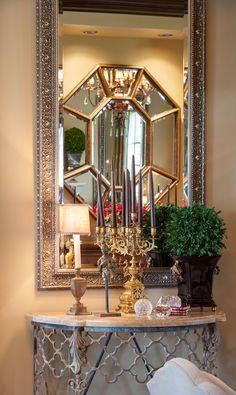 Joy Tribout Interior Design.  beautiful mirrors.