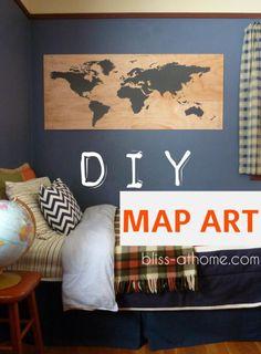 DIY Map Art