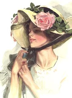 Lady with Rose Bonnet